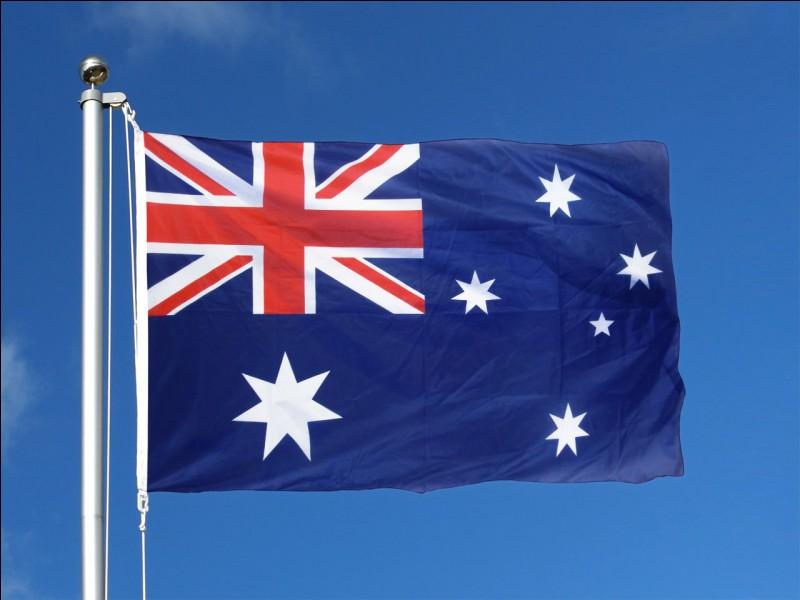 Combien y a-t-il d'étoiles sur le drapeau de l'Australie, sur cette image ?