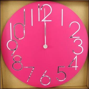 Combien y a-t-il d'horloges roses sur cette image ?