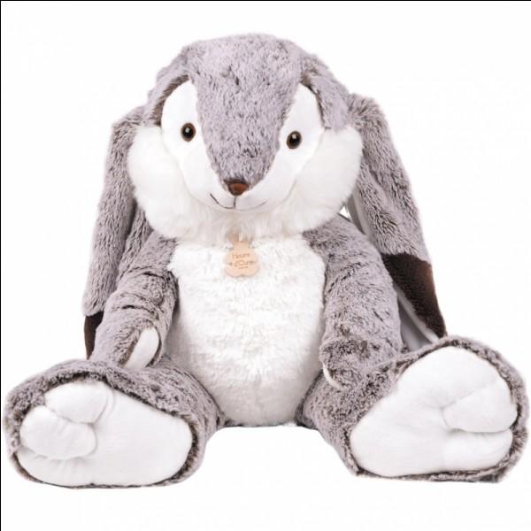 Combien y a-t-il de peluches lapins sur cette image ?