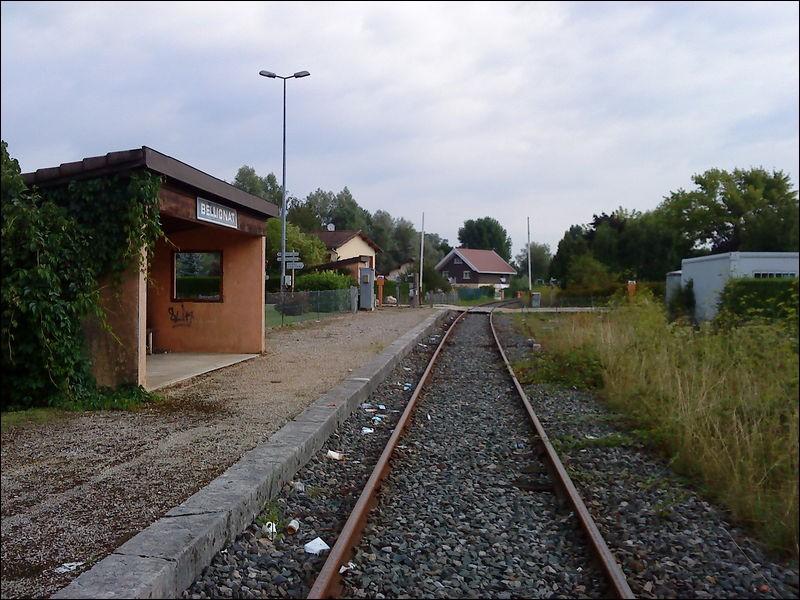 Dans quel département est située la gare de Bellignat ?