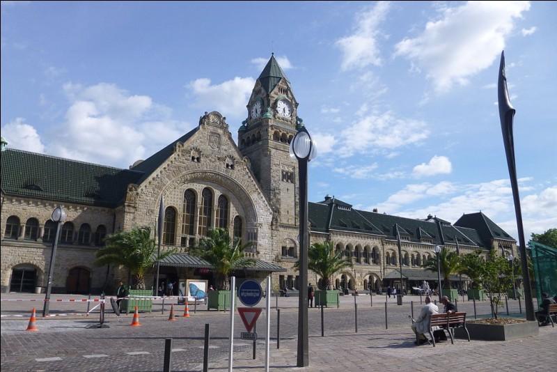 Quel est le nom de cette gare située à Metz ?