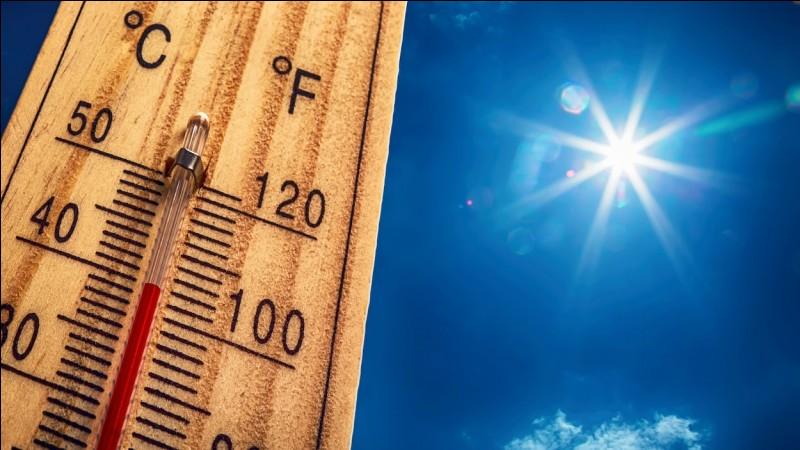C : Canicule : le 1er juillet 2015, à Paris, la seconde plus forte chaleur est relevée. Le thermomètre affichait...