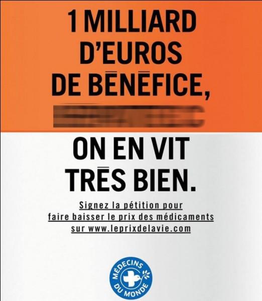 De quelle maladie est-il question sur cette affiche de Médecins du Monde ?