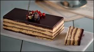 Quel type de biscuit est utilisé dans la préparation d'un opéra ?