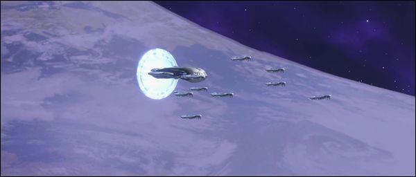Quelle flotte Rtas 'Vadumee contrôle-t-il lors de la Bataille de l'Arche ?