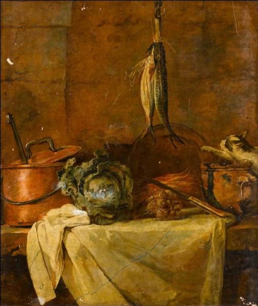 Voici encore une table de cuisine, par le peintre :