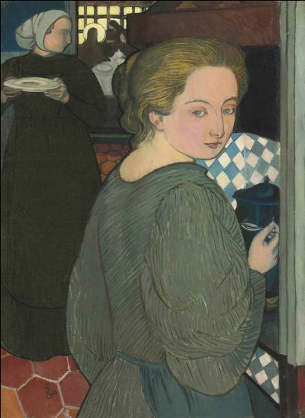 """Et enfin """"La Cuisinière"""", très jolie toile de l''artiste :"""