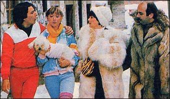 """Dans le film """"Les bronzés font du ski"""" qui reste coincé sur le télésiège ?"""