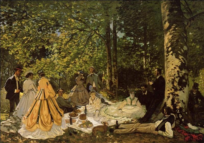 """À quel peintre ce tableau """"Le Déjeuner sur l'herbe"""" appartient-il ?"""