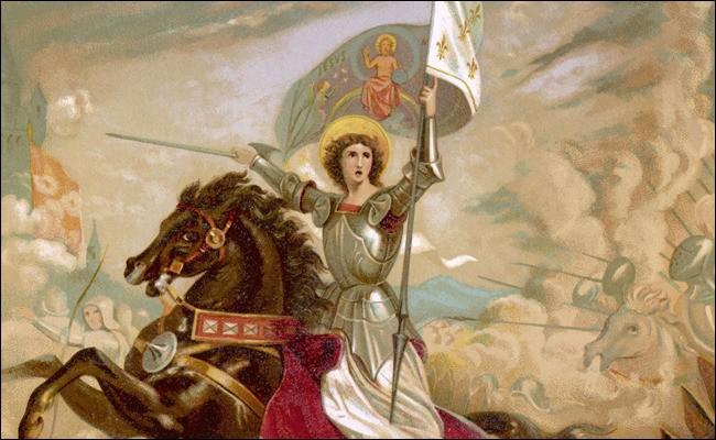 Qu'est-ce qui pousse Jeanne d'Arc à s'enrôler dans les troupes du dauphin ?