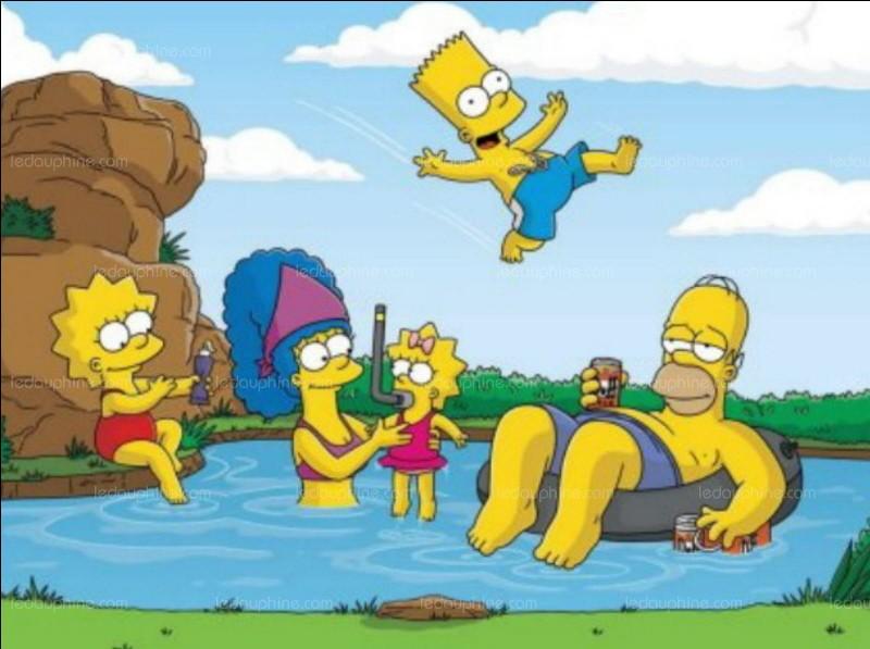 """Dans """"Les Simpson"""" le générique, quand Maggie passe à la caisse quel est le nombre qui apparaît sur le tableau de borne ?"""
