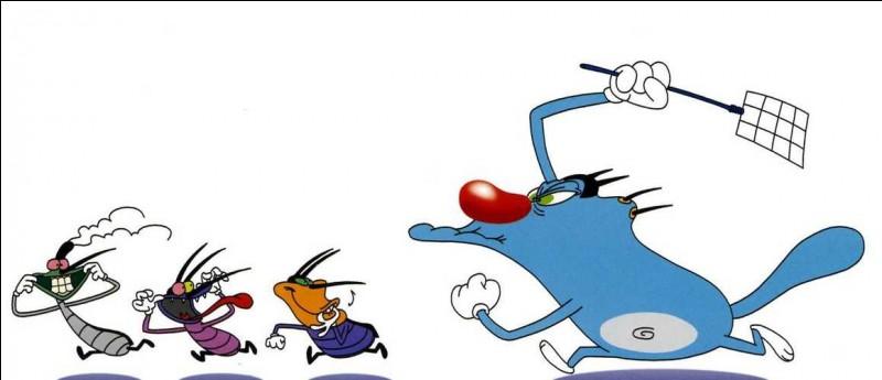 """Dans """"Oggy et les Cafards"""", de quelle couleur est Jack ?"""