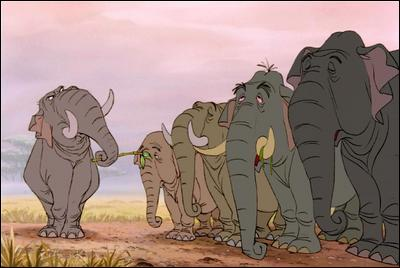 Qui mène 'La patrouille des éléphants' dans 'Le Livre de la Jungle' ?