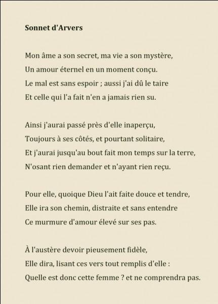 Combien de vers compte un sonnet ?