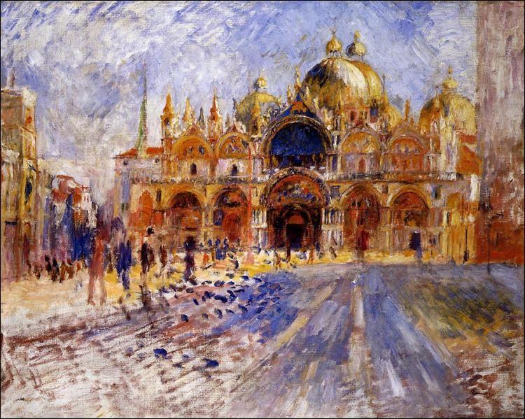 Quel artiste français a peint, en 1881, la basilique Saint-Marc de Venise ?