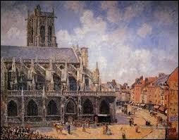 Ce tableau représentant l'église Saint Jacques à Dieppe est de ...