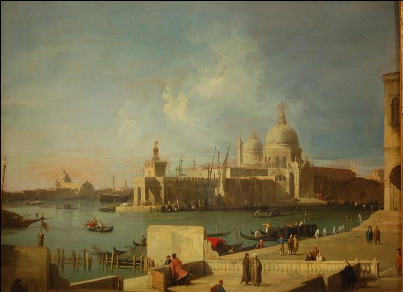 """L'Eglise de """"la Salute"""" à Venise a été peinte par..."""