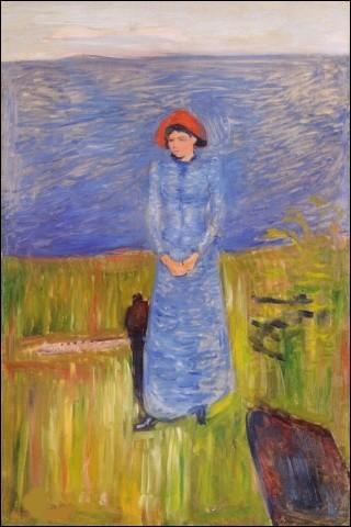"""Qui a peint """"Femme au chapeau rouge sur le fjord"""" ?"""