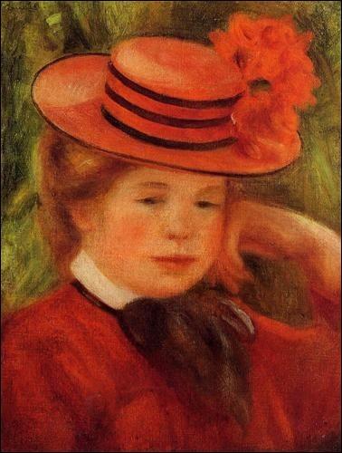 """Et enfin, à qui appartient le tableau """"Jeune fille avec un chapeau rouge"""" ?"""