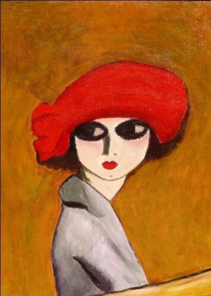 """Magnifique chapeau rouge ! Quel est l'artiste qui a intitulé sa toile """"Coquelicot"""" ?"""