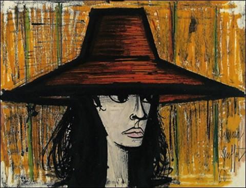 """Un autre genre pour cette """"Femme au chapeau rouge"""", par le peintre :"""