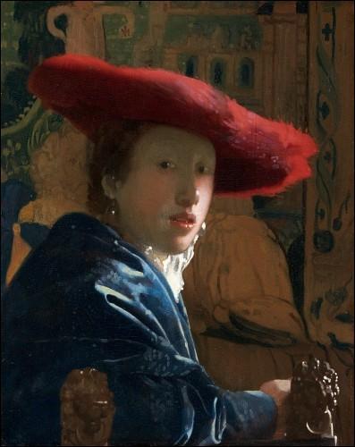 """Voici """"Femme au chapeau rouge"""", toile connue du peintre :"""