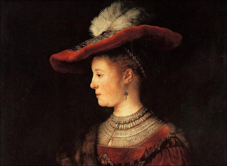 """Qui a fait le portrait de """"Saskia au chapeau rouge"""" ?"""
