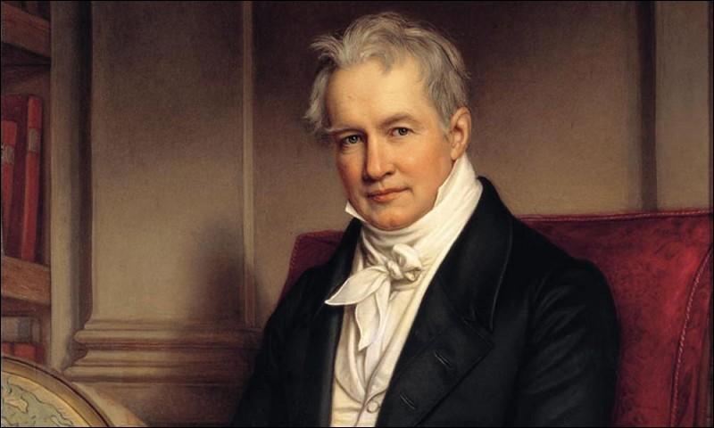 Mai 1859 : Le naturaliste, géographe et explorateur Alexander von Humboldt a laissé son nom de nombreuses fois, notamment pour désigner le ''courant de Humboldt'' :