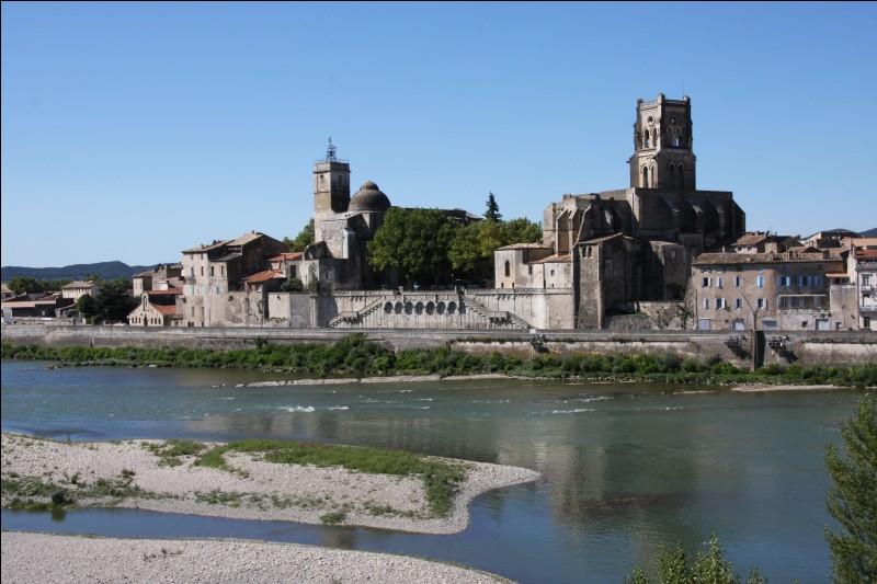 Cette ville du département du Gard, située sur la rive droite du Rhône à la confluence de l'Ardèche et du Rhône, c'est ...