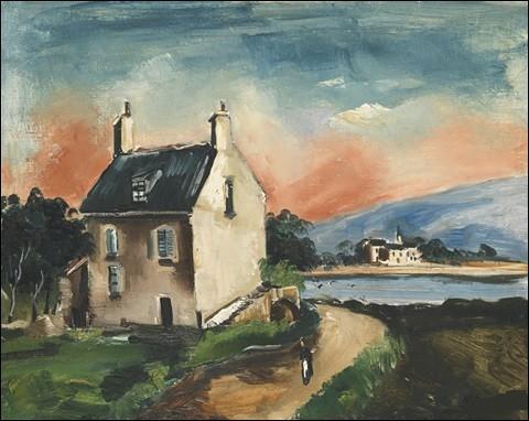"""Qui a peint """"Le lac (ferme sur la route)"""" ?"""