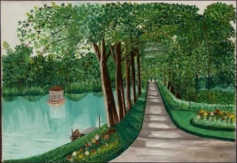 """Qui a peint """"Allée près du lac"""" ?"""