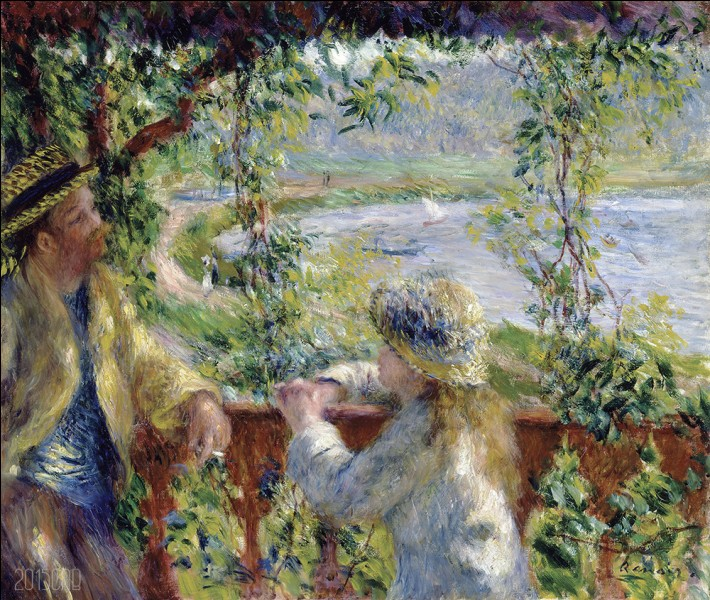 """Sa toile s'intitule """"Près du lac"""" :"""