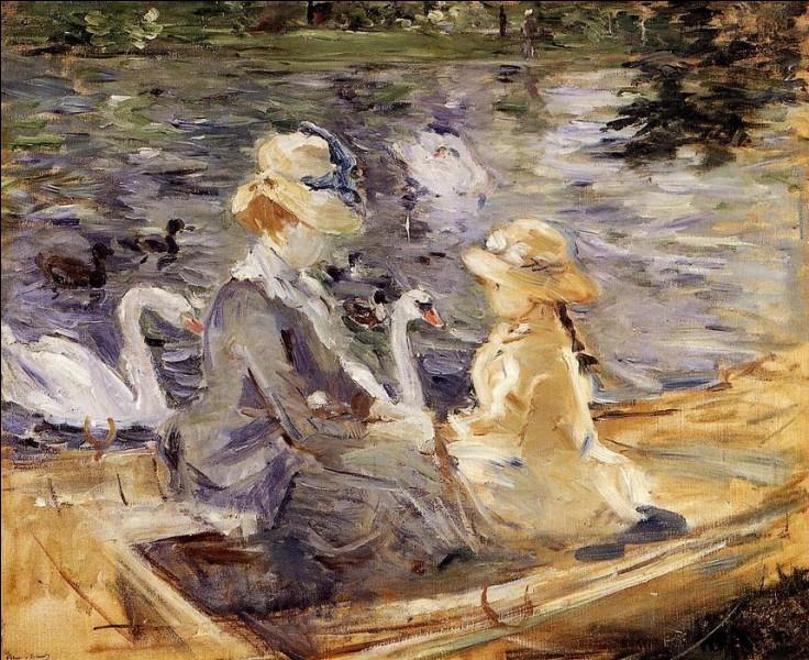"""Cette toile a pour titre """"Sur le lac du Bois de Boulogne"""", qui en est l'auteur ?"""