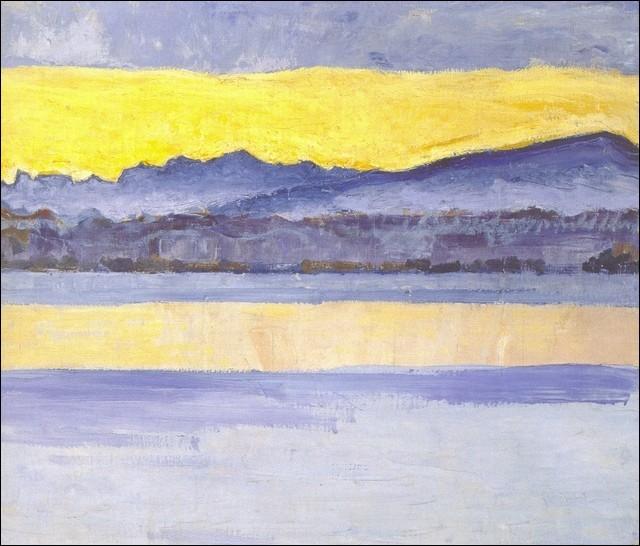 """Qui a peint """"Lac de montagne"""" ?"""