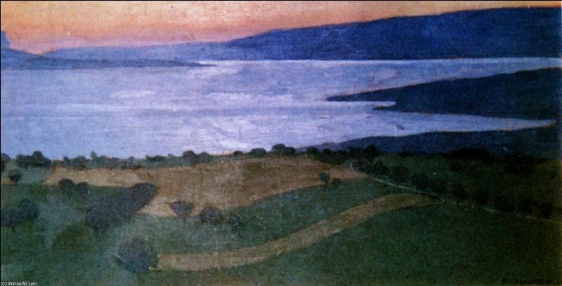 """Qui a peint """"Lac Léman, effet du soir"""" ?"""