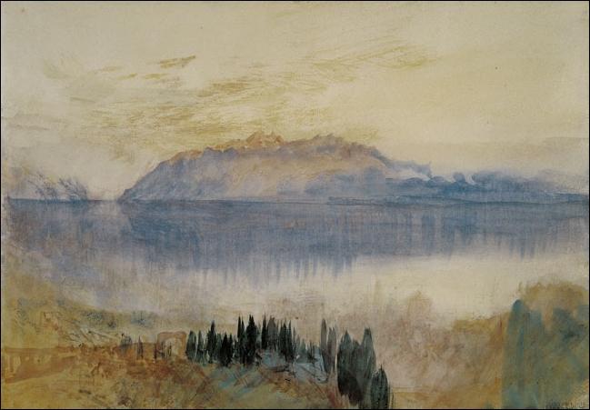 """Qui a représenté le """"Lac Léman avec la dent d'Oche, vue de Lausanne"""" ?"""