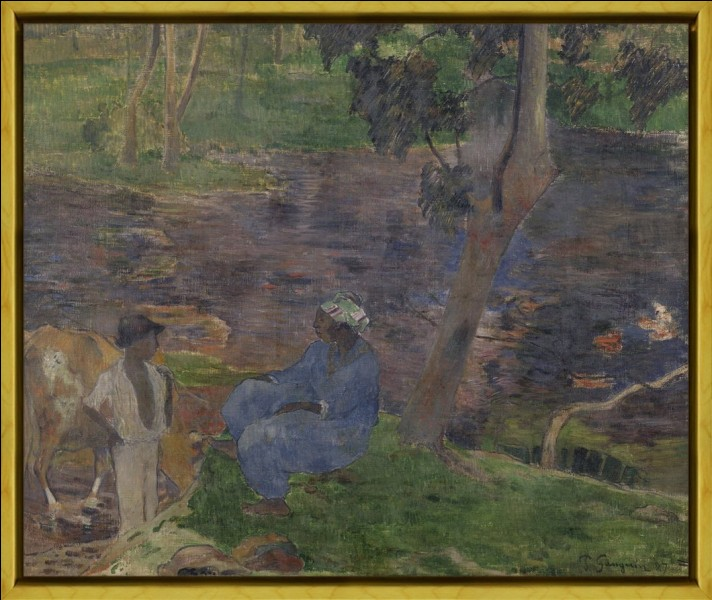 """À qui doit-on ce tableau intitulé """"Sur la rive du lac à la Martinique"""" ?"""