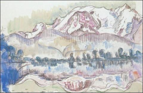"""Qui a représenté """"Le mont Blanc et le lac d'Annecy"""" ?"""