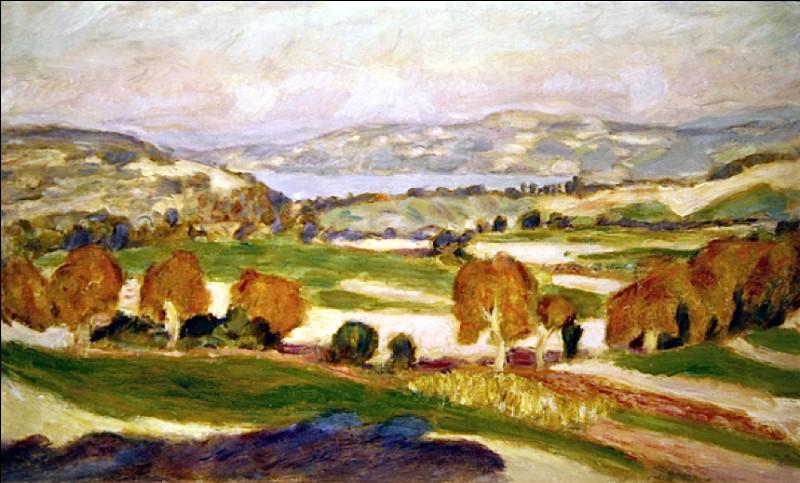 """Qui a peint """"Le Lac de Paladru"""" ?"""