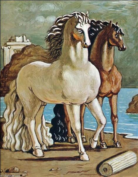 """Qui a réalisé le tableau intitulé """"Deux chevaux près d'un lac"""" ?"""