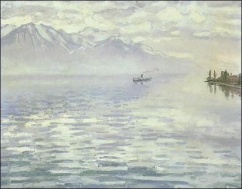 """À qui doit-on cette peinture du """"Lac Léman"""" ?"""