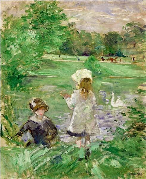 """Qui est l'artiste de la toile intitulée """"Au bord du lac"""" ?"""