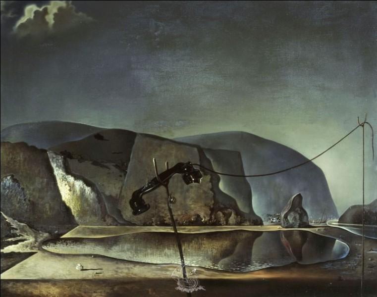 """Qui a peint """"Lac de montagne, scène de plage avec téléphone"""" ?"""