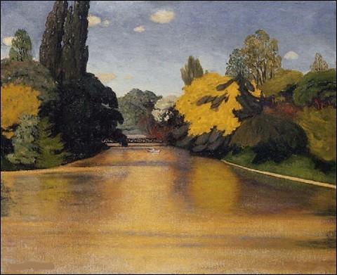 """Qui a peint """"Bois de Boulogne, lac Saint-James"""" ?"""