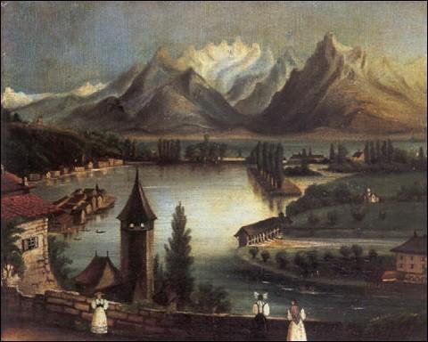 """À qui doit-on """"Paysage avec un lac de montagne"""" ?"""