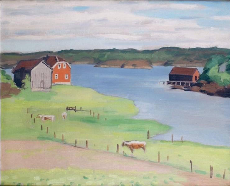 """Qui a peint """"Pâturages au bord du lac à Hesnes"""" ?"""