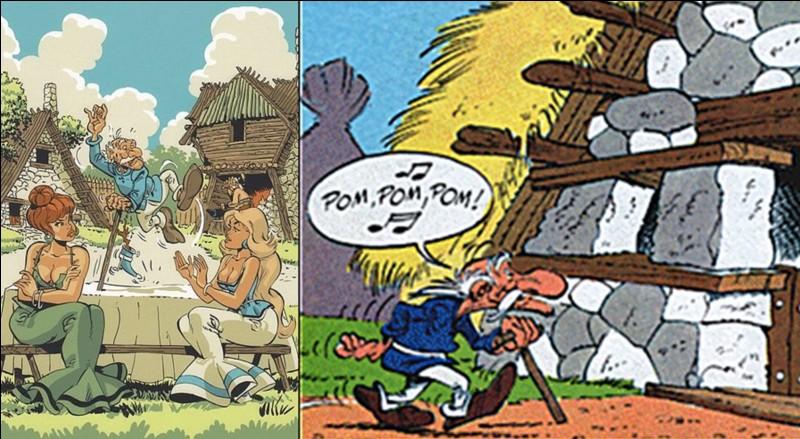 On le voit pour la première fois dans « Astérix aux Jeux Olympiques ». Ensuite, il apparaît dans tous les albums sauf dans « les Lauriers de César ». On ne connaît pas le nom de sa très charmante épouse !Dans la version allemande, il se nomme « Methusalix ».Qui est cet habitant du village ?