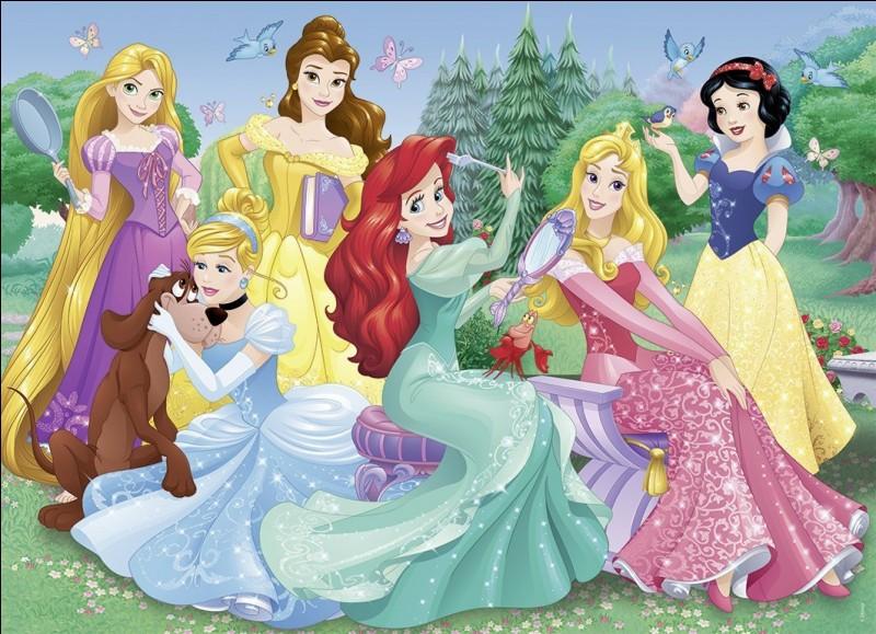 Quelle princesse ne figure pas sur cette image ?