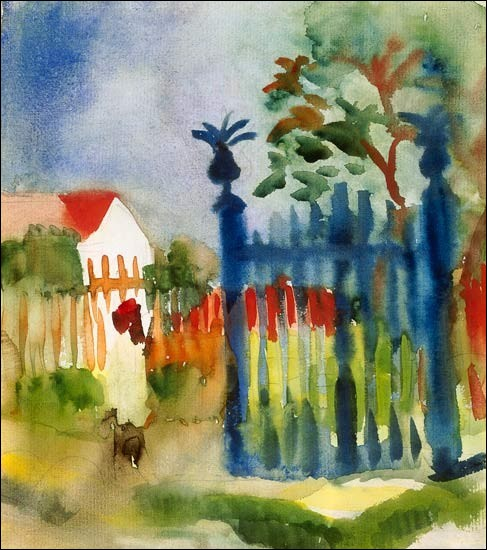 """Qui a peint """"Barrière de jardin"""" ?"""
