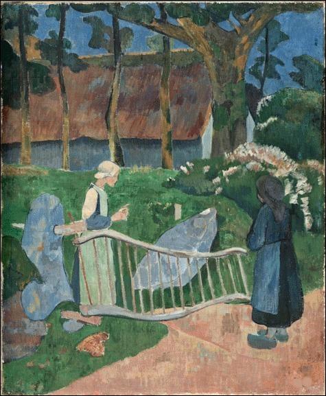 """Qui a peint """"La barrière fleurie, le Pouldu"""" ?"""